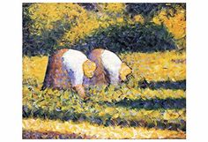 """Artdash® Decorative Fine Art Reproduction: """"Farmers at Work"""" by Georges Seurat ArtDash® http://www.amazon.com/dp/B00TXCR88S/ref=cm_sw_r_pi_dp_axo7ub1RWN20C"""