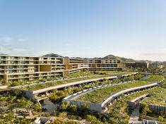 Image 1 of 42 from gallery of Solaz Los Cabos Hotel / Sordo Madaleno Arquitectos. Photograph by Rafael Gamo Permaculture, Landscape Architecture, Landscape Design, Desert Landscape, Mexican Colors, Construction Area, San Jose Del Cabo, Landmark Hotel, Arquitetura