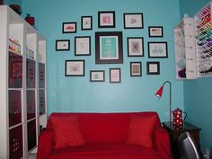 Red Sofa Teal Accent Wall I Already Have A Red Couch Now I Need - Red and turquoise living room