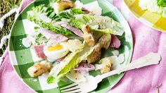 Leg ham Caesar salad How To Make Mayonnaise, Sbs Food, Leftover Ham, Caesar Salad, Sourdough Bread, Tasty Dishes, Lettuce, Salad Recipes, Food Processor Recipes