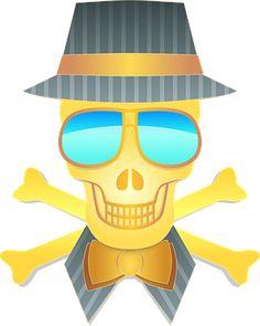 Hat, Skull, Sunglasses, Man, Person