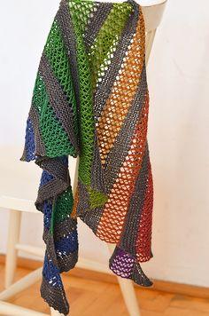 Playground Shawl pattern by Justyna Lorkowska #FreePattern