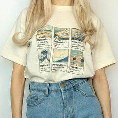 Hokusai shirt painting shirt aesthetic artsy aesthetic outfits HokusaiTone T-Shirt Tumblr Outfits, Outfits 80s, Cute Outfits, Fashion Outfits, Artsy Outfits, Preppy Outfits, Office Outfits, Womens Fashion, Aesthetic T Shirts