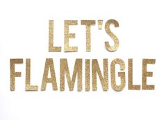 New to StudioPep on Etsy: Let's Flamingle Banner Glitter Banner Flamingo Party Decor Flamingo decor - Let's Flamingle Custom colors & Sizes GLITTER BANNER KIT (20.00 USD)
