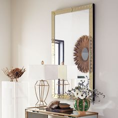 When I mentioned wall mirrors, he made such looked at me in that peculiar way that lets me know without him saying anything, exactly what he's thinking...
