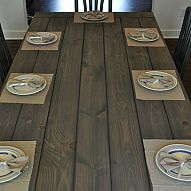 Make your own Farmhouse Table (The Easy Way!) Wondering how to make a Farmhouse Table on the Cheap and with little wood working experience? We took two old tab...