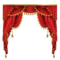 vector realistic luxury red curtains in victorian style with drapery tied with golden cord with tassels isolated on background. decorative silk cloth with folds for cinema theater concert posters Studio Background Images, Banner Background Images, Wedding Invitation Background, Wedding Background, Curtains Vector, Gallery Frames, Red Curtains, Luxury Curtains, Concert Posters