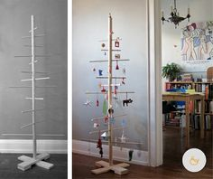 A DIY Christmas tree made of wood. by josephine