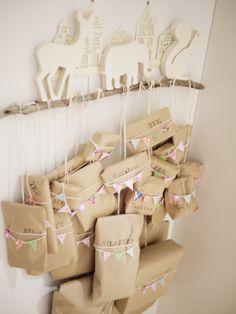 Paperbag advent calendar  #AdventCalendar, #Cardboard, #Christmas, #Paperbag
