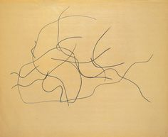 Ellsworth Kelly (American, born 1923). Automatic Drawing: Pine Branches V. 1950