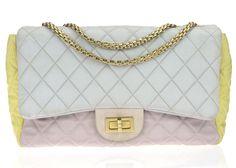 ff00ed3b39def5 Chanel Pastel Color Block Reissue 226 Flap Bag Chanel Bags, Grosgrain  Ribbon, Pastel Colors