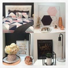 """@nardiapinto has created this beautiful bedroom with what looks like all things Kmart. Looks perfect"