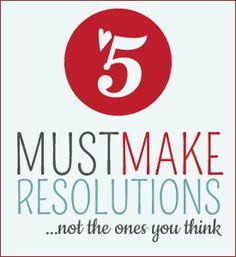 Resolutions everyone can make, should make.