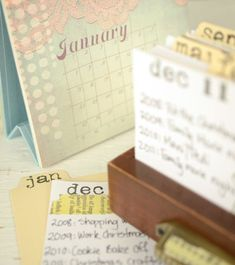 Journal Your Year: Free Daily Calendar DIY Project  http://stampington.com/blog/index.php/2012/12/17/journal-your-year-free-daily-calendar-diy-project/