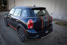 """Mini Cooper Countryman or Clubman 2 COLOR 10"""" wide total Rally stripe set"""