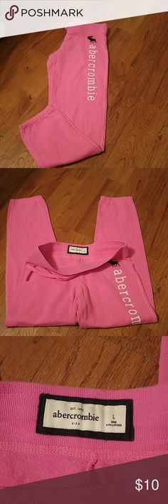 Abercrombie Pink sweat pants youth large no stains or holes just soft and comfortable abercrombie kids Other
