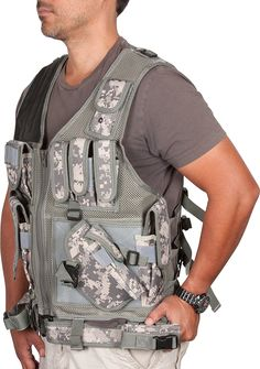 9cf2dc1f018 Digital Camo Adjustable Tactical Military and Hunting Vest By Modern  Warrior by Modern Warrior. Digital Camo Adjustable Tactical Military and Hunting  Vest ...