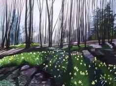 Daffodil Woods 2 (2016) Acrylic painting by joseph lynch | Artfinder