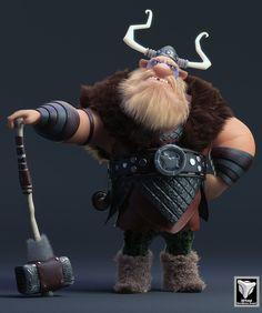 #Viking, Fellipe Beckman on ArtStation at https://www.artstation.com/artwork/viking-3f312087-539c-4de3-a2e4-e8c92040d15c