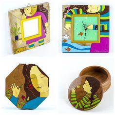 ¡Dele alegría a su hogar!  Hermosas creaciones de Pintacuentos Diseño Artesanal para sus espacios favoritos o para dar un regalo con amor. 100% hecho a mano. Y por poco tiempo estarán con precio especial. ¡Aproveche!  Encuentre la colección completa en elcajoncito.com --> precios especiales #MadeinCostaRica #Madera #Cuentos