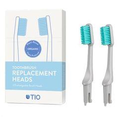 Náhradní hlavice k zubnímu kartáčku Medium - ledovcově modrá TIO Personal Care, Medium, Self Care, Personal Hygiene, Medium Long Hairstyles