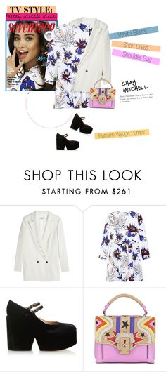 """No 287:TV Style: Pretty Little Liars-Shay Mitchell"" by lovepastel ❤ liked on Polyvore featuring Ganni, MSGM, Mary Katrantzou, Paula Cademartori and pll"