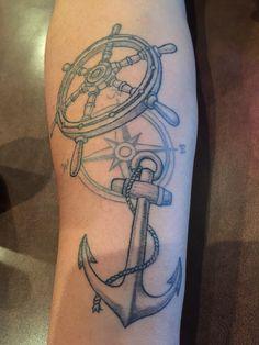 Nautical tattoo Vintage Nautical Tattoo, Nautical Tattoos, Vintage Style Tattoos, Grafic Art, Sailor Tattoos, Rosen Tattoos, Anchor Tattoos, Body Mods, Tatting