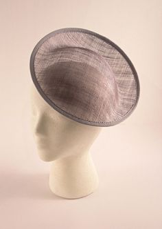 Gray/Grey Large Saucer Sinamay Fascinator Hat Base for Millinery