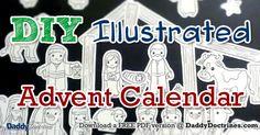 I made a DIY Illustrated Advent Calendar Nativity Set! Want one too?