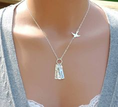 Personalized Mothers Necklace Hand Stamped Jewelry by cvennell, $43.50