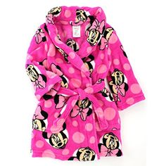 Amazon.com  Minnie Mouse Toddler Pink Fleece Robe (3T)  Clothing afaf0b0c6