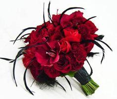 Rockabilly Wedding Bouquet|  Red wedding bouquet