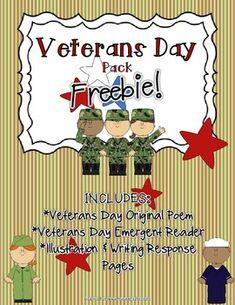 Veterans Day Poem, Free Veterans Day, Veterans Day Activities, Holiday Activities, Kindergarten Social Studies, Social Studies Activities, Teaching Social Studies, Kindergarten Activities, Preschool