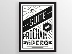 """Poster design fichier à télécharger """"L'APERO"""" by Wallshop"""