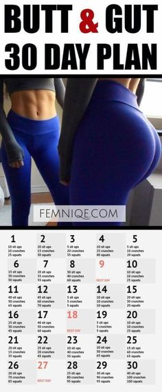 30 Day Butt and Gut Workout Challenge – If you want a serious 30 day butt and ab challenge to sculpt your body then this is perfect for you! burn fat 30 days fat loss diet for men 30 Day Butt and Gut Workout Challenge – If you want a serious 30 … Fitness Workouts, Fitness Herausforderungen, Fitness Goals, Fitness Quotes, Ab Workouts, Body Quotes, Health Fitness, Planet Fitness, Weight Workouts