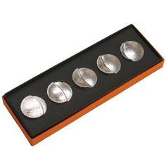 moon chopstick rest SHIROKANE designed by TAKATA 月の満ち欠けの箸置き5個セット 高田製作所