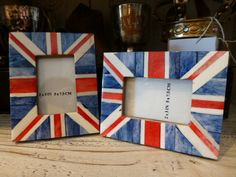 Union Jack Flag Frames at Caught My Fancy Jack Flag, Fancy Houses, Union Jack, Picture Frames, Craft Ideas, Check, Pictures, Crafts, Home Decor
