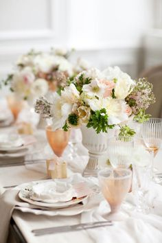 Peach and rose hued wedding