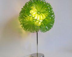 Daisy 12 Plastic Bottle Table Lamp by SarahTurnerEcoDesign