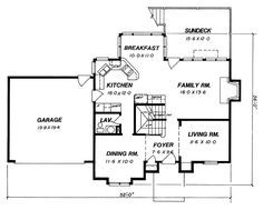 House Plan 80153 - Cottage Style House Plan with 1749 Sq Ft, 4 Bed, 3 Bath, 2 Car Garage Cottage Style House Plans, Cottage Style Homes, Cottage House Plans, Country House Plans, Electrical Layout, Floor Ceiling, Garage Apartments, Roof Plan, Best House Plans