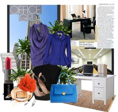 """""""Office Girl"""" by chikafjrn ❤ liked on Polyvore"""