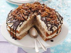Kaffeecreme-Walnuss-Torte ist ein Rezept mit frischen Zutaten aus der Kategorie Nusskuchen. Probieren Sie dieses und weitere Rezepte von EAT SMARTER!