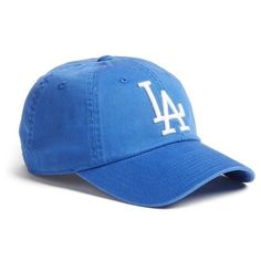 Women's American Needle 'Los Angeles Dodgers' Baseball Cap (75 BRL) ❤ liked on Polyvore featuring accessories, hats, royal, logo ball caps, dodgers baseball hat, la dodgers hat, dodgers baseball cap and dodgers hat