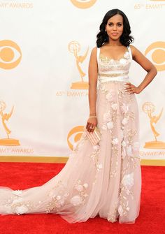My Favorite Dress From The 2013 Emmy Awards  Kerry Washington in Marchesa  Gown - chic from hair 2 toe e988d463ea33