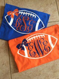 Personalized/Custom Florida Gator Monogram College Football Shirt With Bow-Go Gators-Gator Bait-University of Florida-UF-Chomp by HappyAsALarkBoutique on Etsy https://www.etsy.com/listing/208156893/personalizedcustom-florida-gator