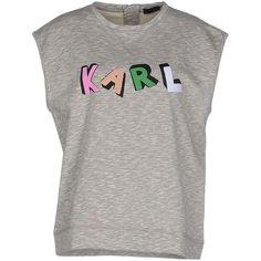 Karl Lagerfeld Vest (74.230 CLP) ❤ liked on Polyvore featuring outerwear, vests, grey, karl lagerfeld, vest waistcoat, grey waistcoat, sleeveless vest and grey vest