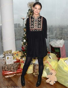 Charitable star: Katie Holmes in Isabel Marant hosted the Glad To Give Event for Giving on December 1, 2015