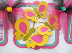 Butterfly baby shower banner its a girl by NancysBannerBoutique, $30.00