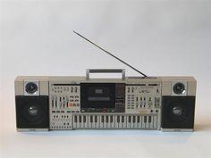 Casio KX-101 Boombox Cassette Keyboard Synthesizer: