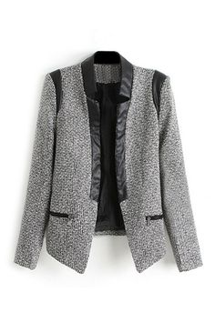 ROMWE Buttonless Contrast Trimming Slim Blazer 35.99